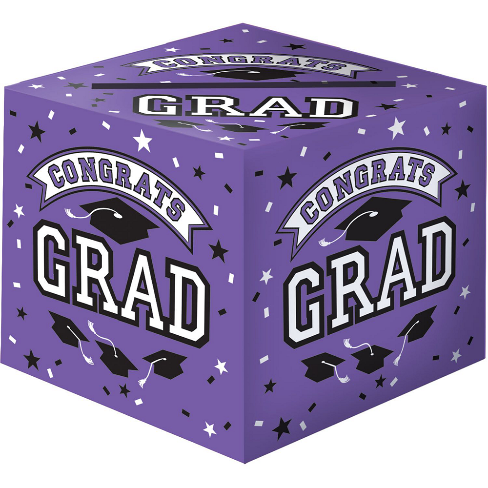 Purple Graduation Gift Table & Sign In Kit Image #2