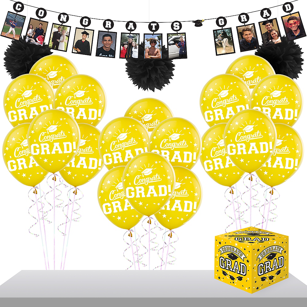 Yellow Graduation Gift Table & Sign In Kit Image #1