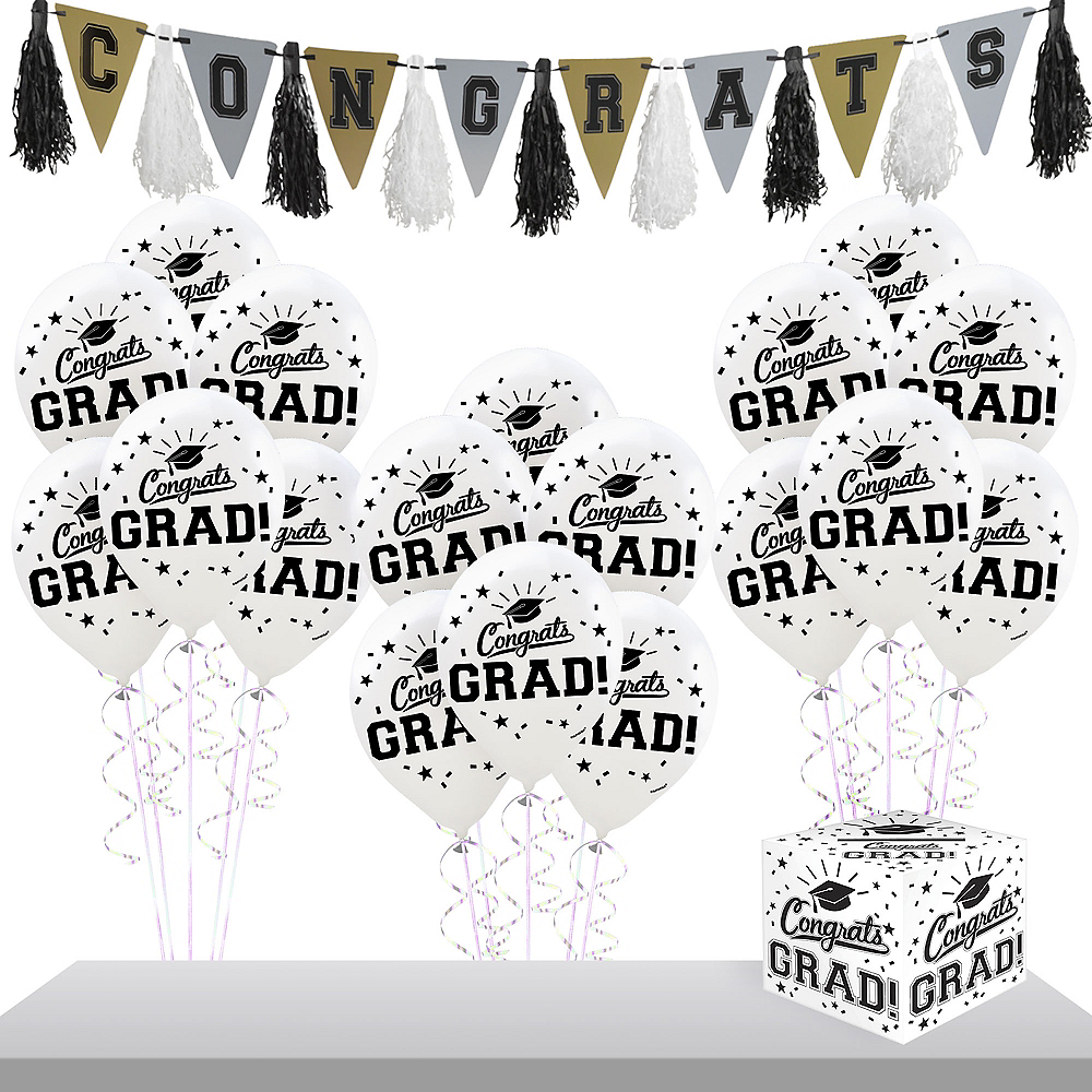 White Graduation Gift Table & Sign In Kit Image #1