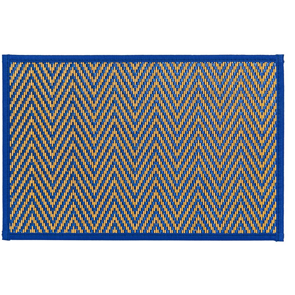 Royal Blue Chevron Bamboo Placemat Image #1