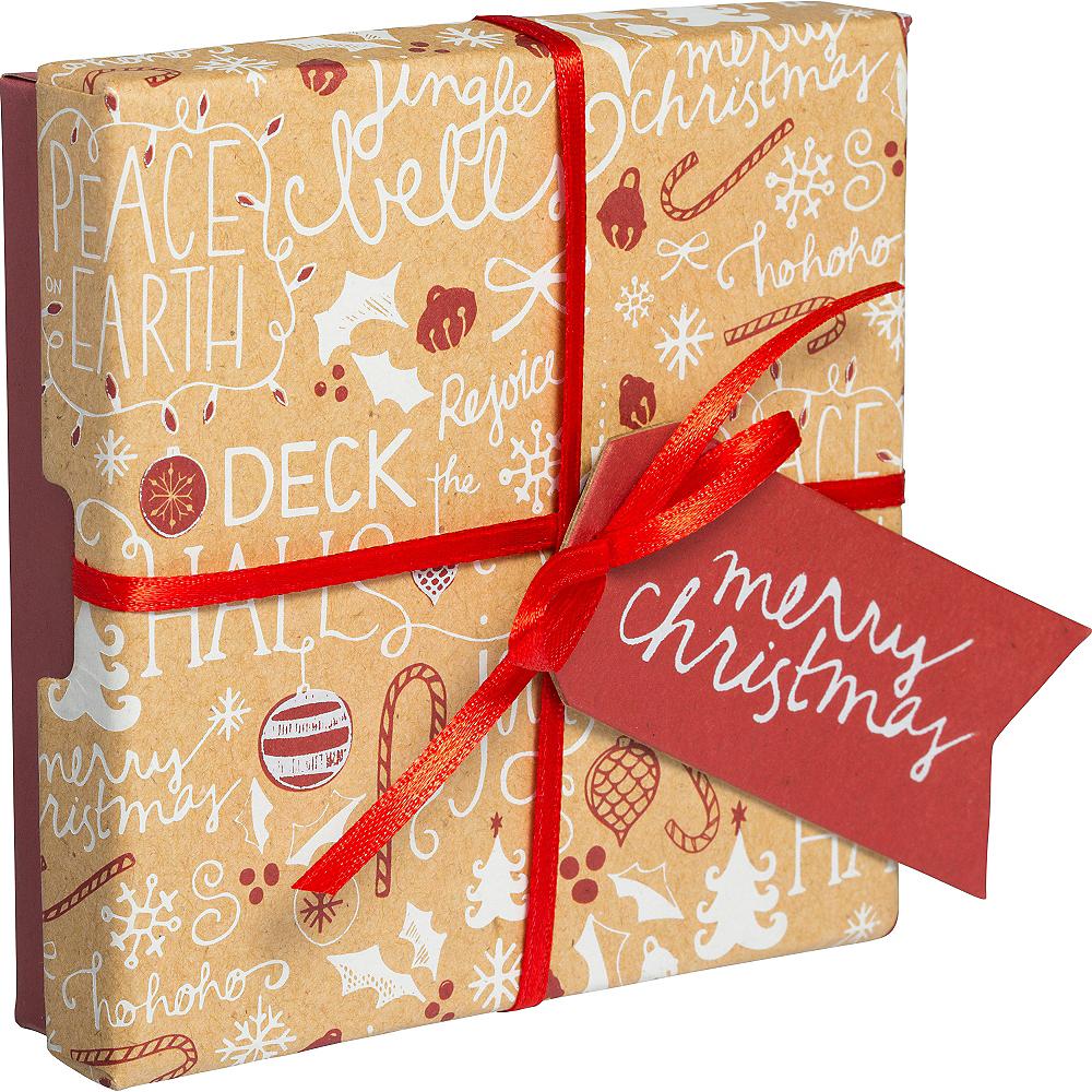 Christmas Kraft Gift Card Holder Box 4in X 4in