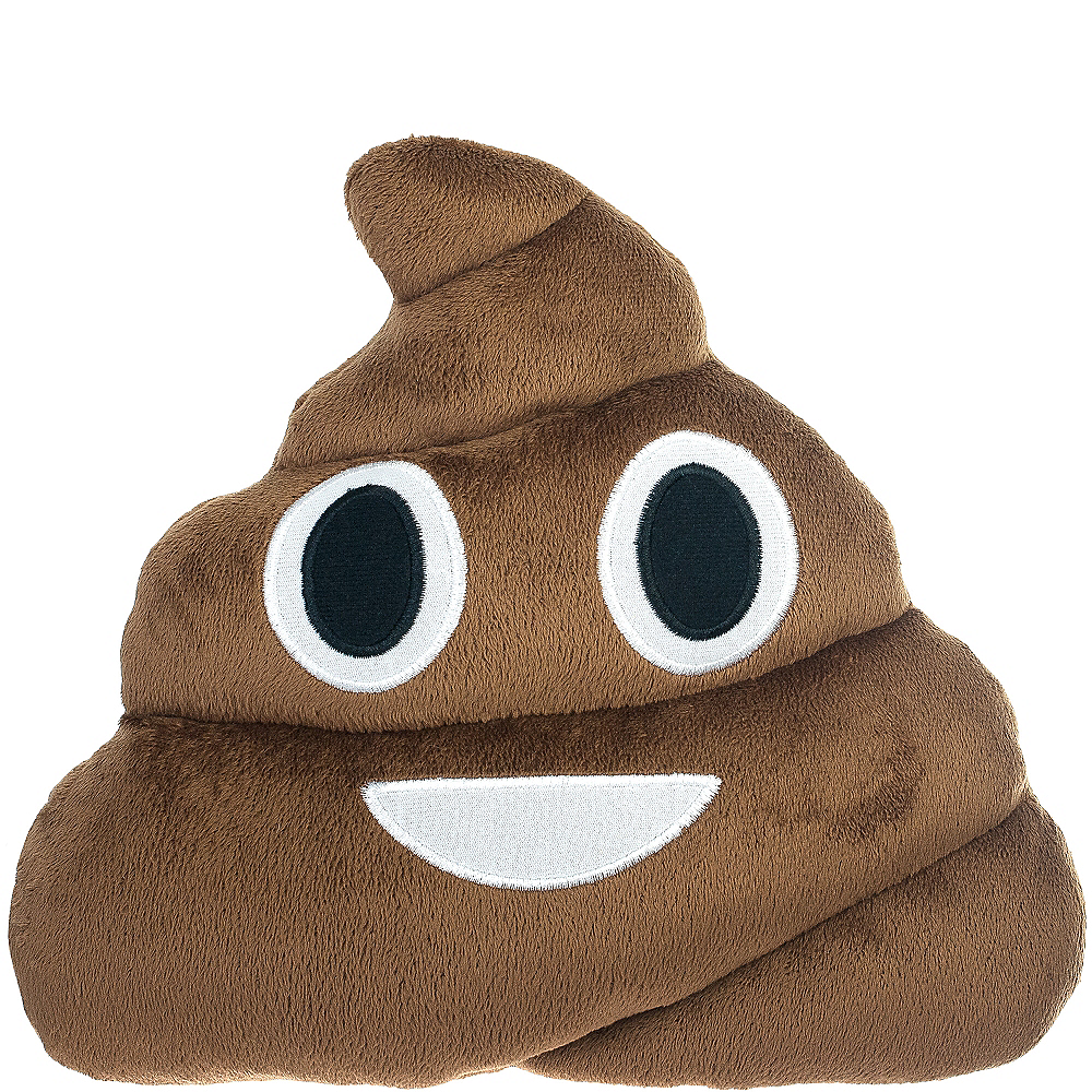Poop Icon Pillow Plush 12in x 12in  a699cea90