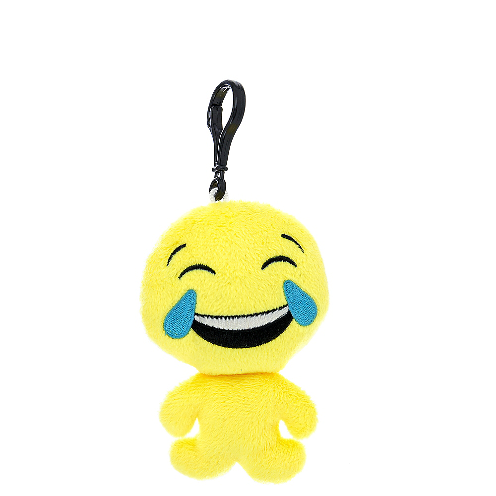 Clip-On Laughing Crying Smiley Plush Image #1
