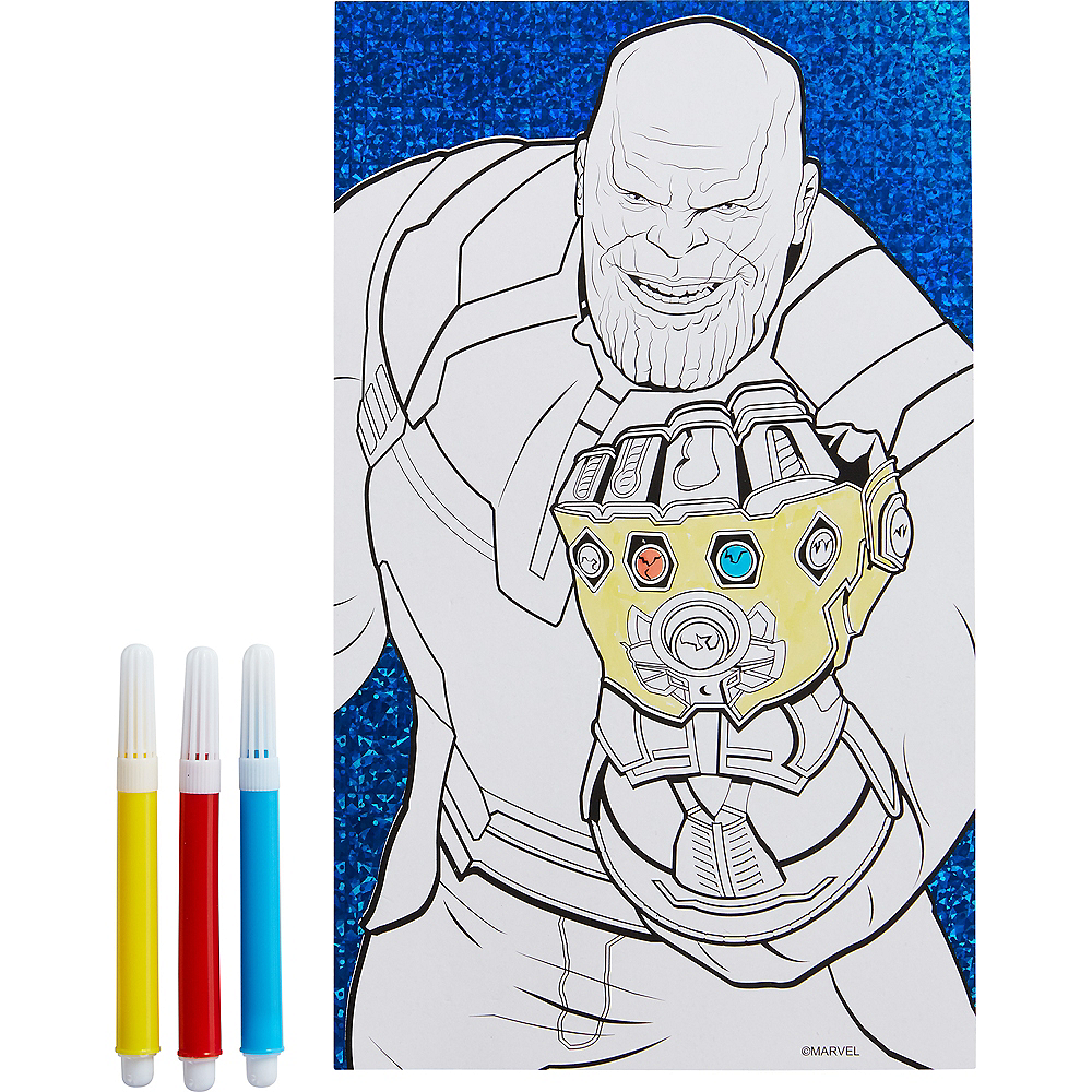 Prismatic Avengers Coloring Sheet with Markers