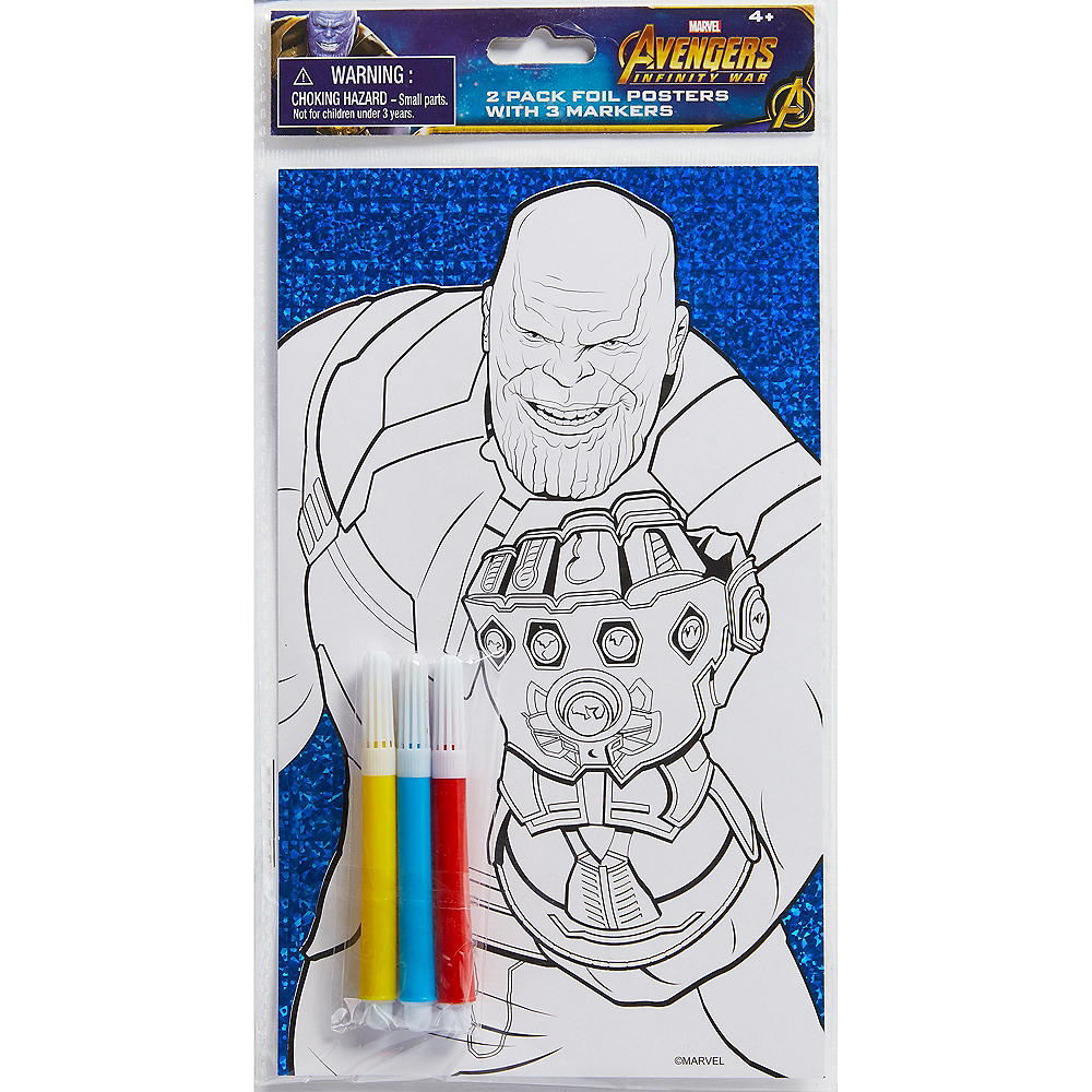 Prismatic Avengers Coloring Sheet with Markers Image #2