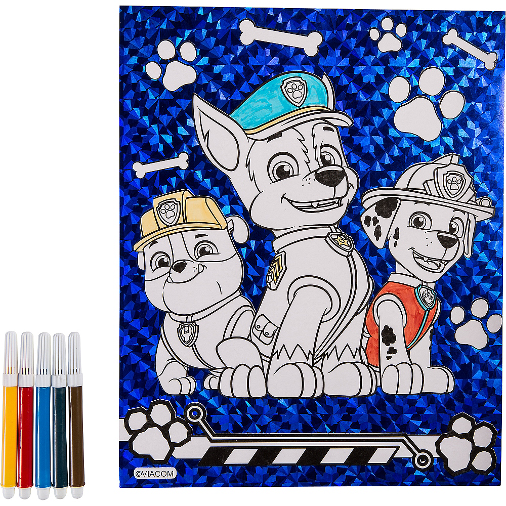 Prismatic PAW Patrol Coloring Sheet with Markers Image #1