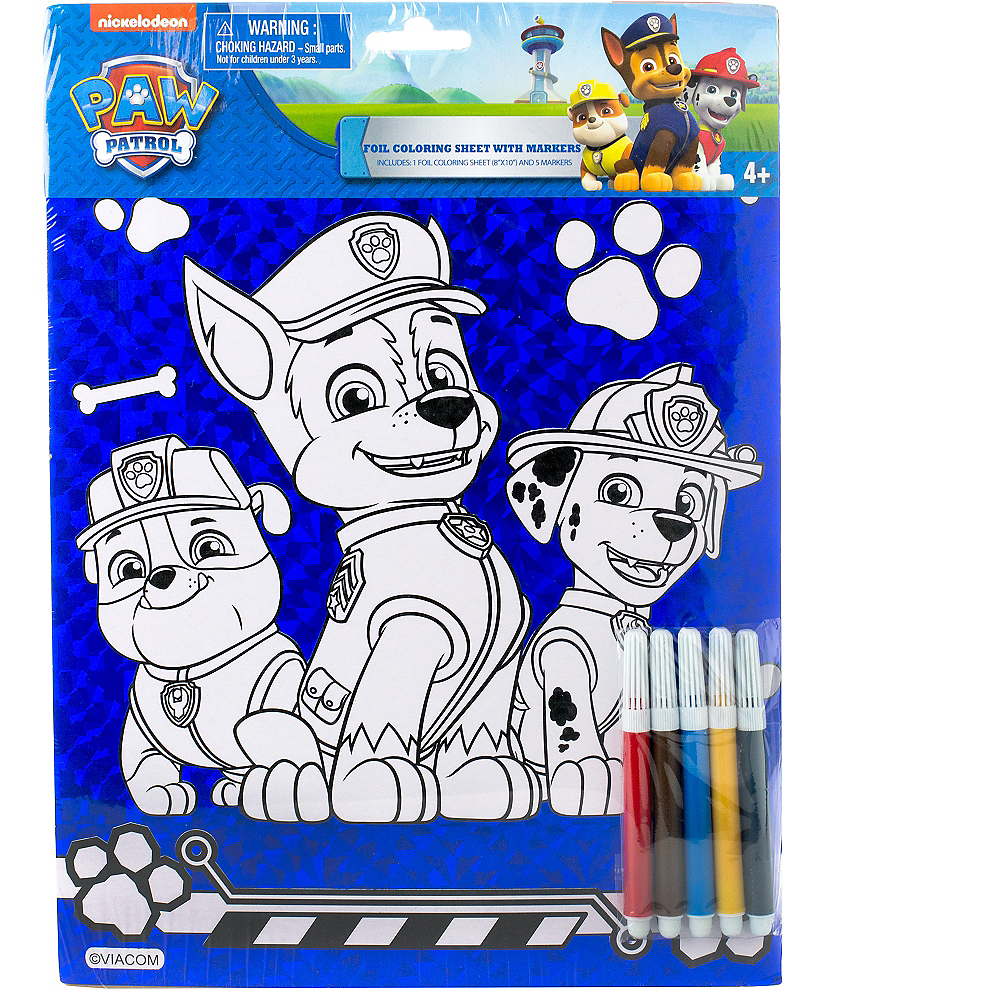 Prismatic PAW Patrol Coloring Sheet with Markers Image #2