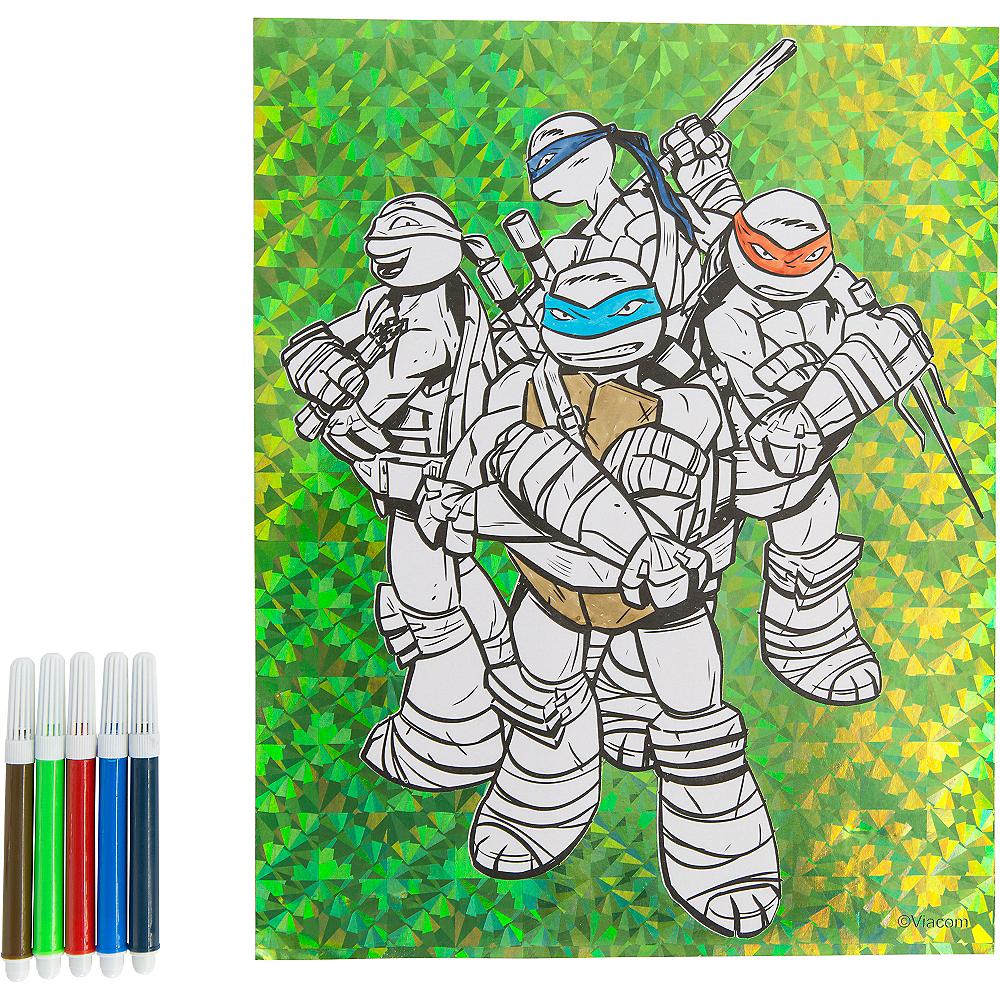 Prismatic Teenage Mutant Ninja Turtles Coloring Sheet with Markers
