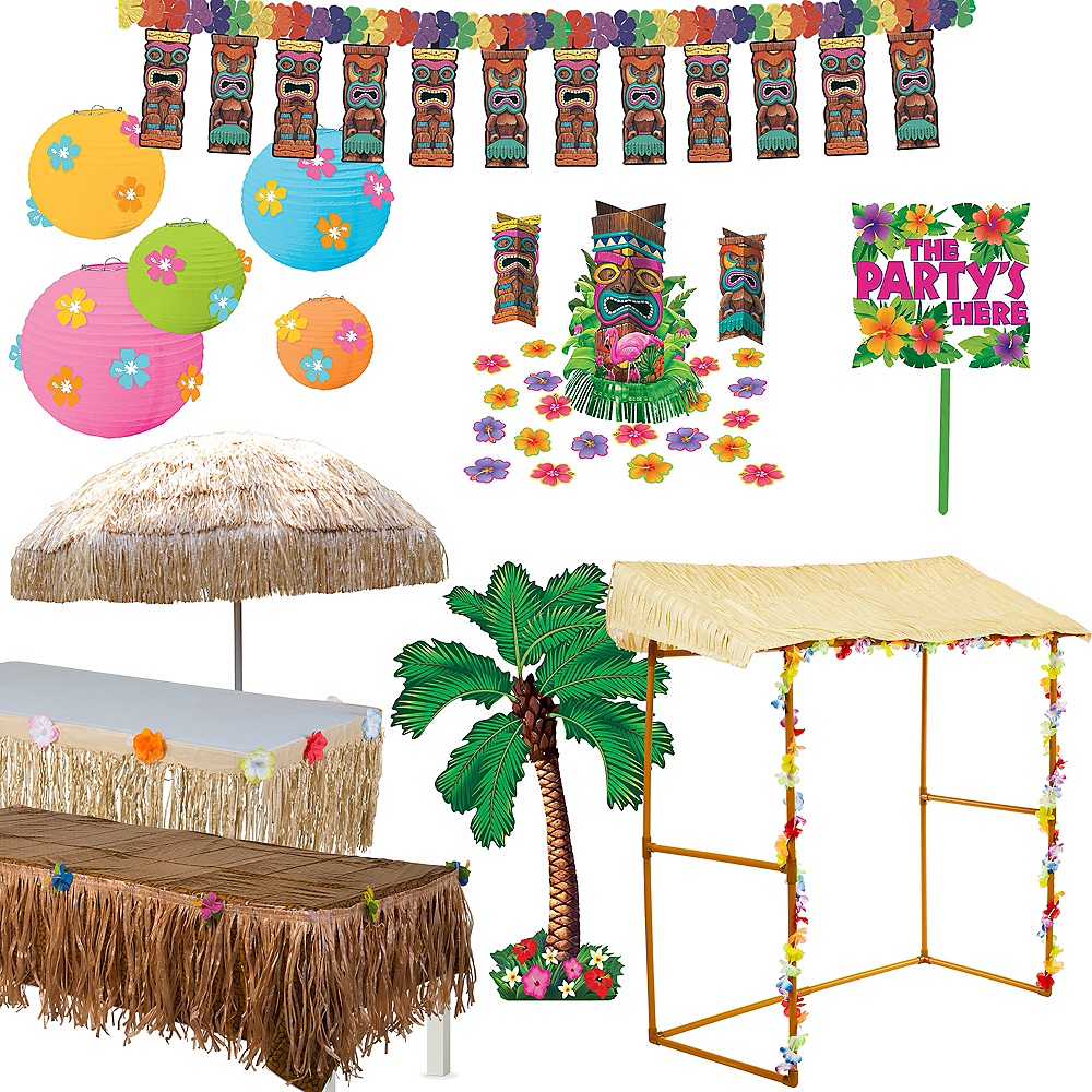 Full Tiki Party Decorating Kit Party City Canada