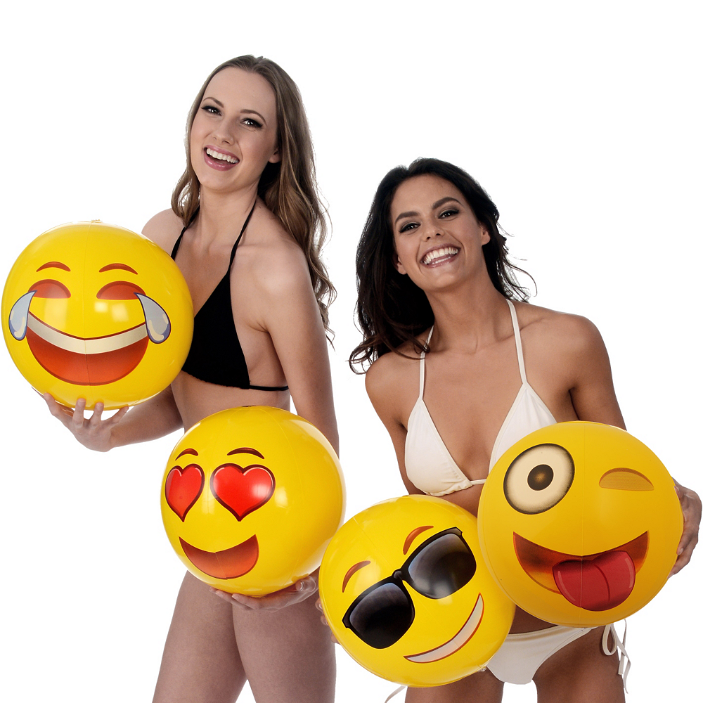 Nav Item for Laughing Crying Smiley Beach Ball Image #2