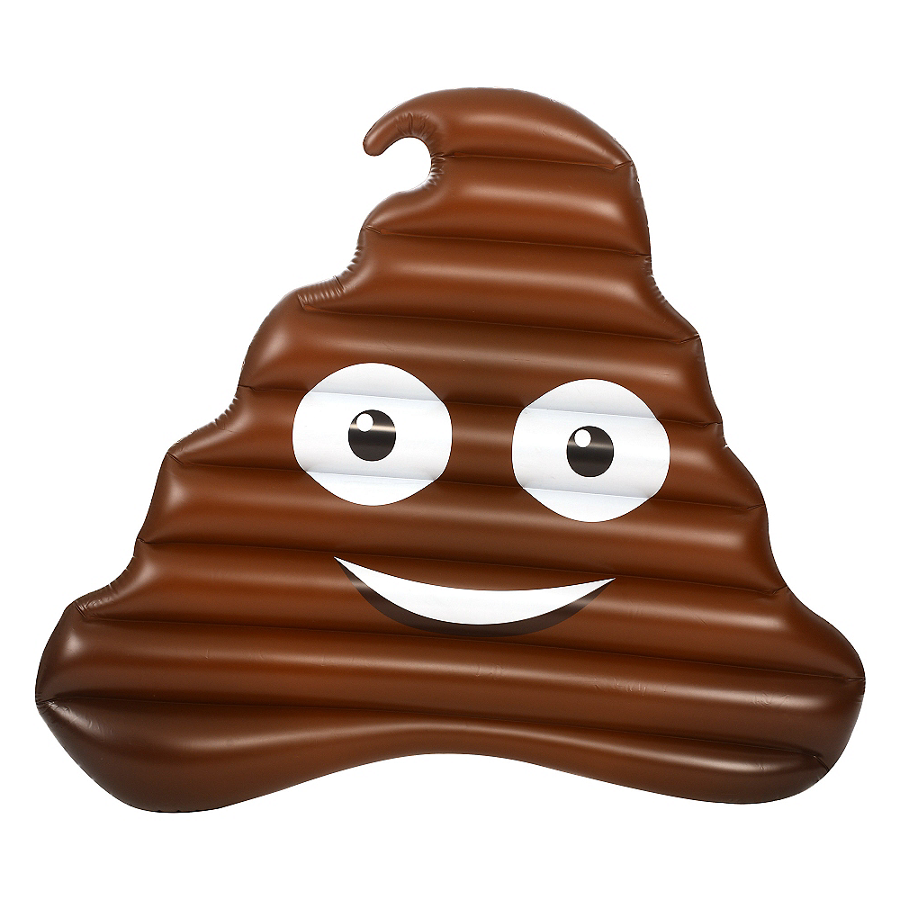 Giant Poop Icon Pool Float Image #2