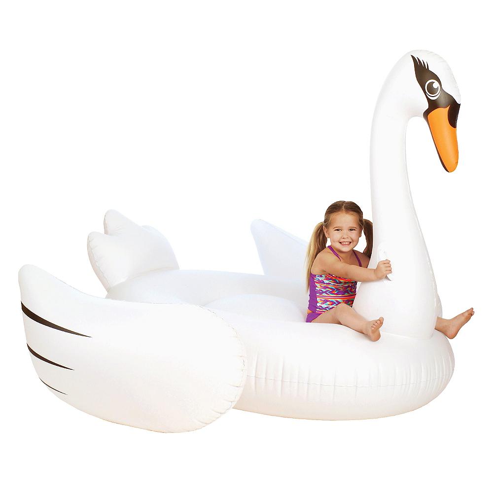 Giant Swan Pool Float Image #1