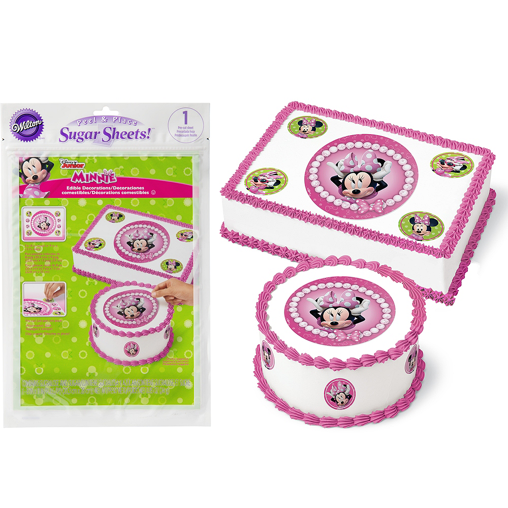 Wilton Minnie Mouse Sugar Sheet 8in X 11in Party City