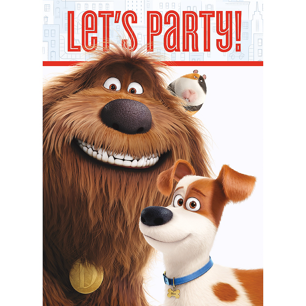 The Secret Life of Pets Invitations 8ct Image #1