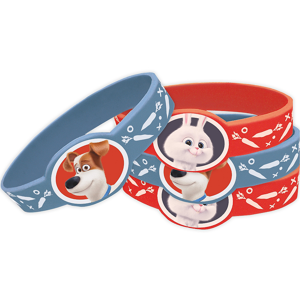 The Secret Life of Pets Wristbands 4ct Image #1
