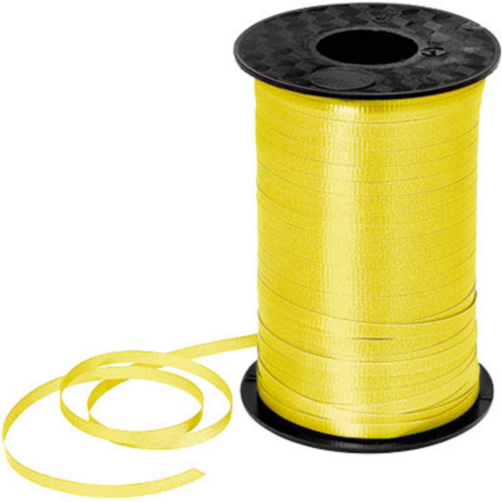 Yellow Curling Ribbon Image #1