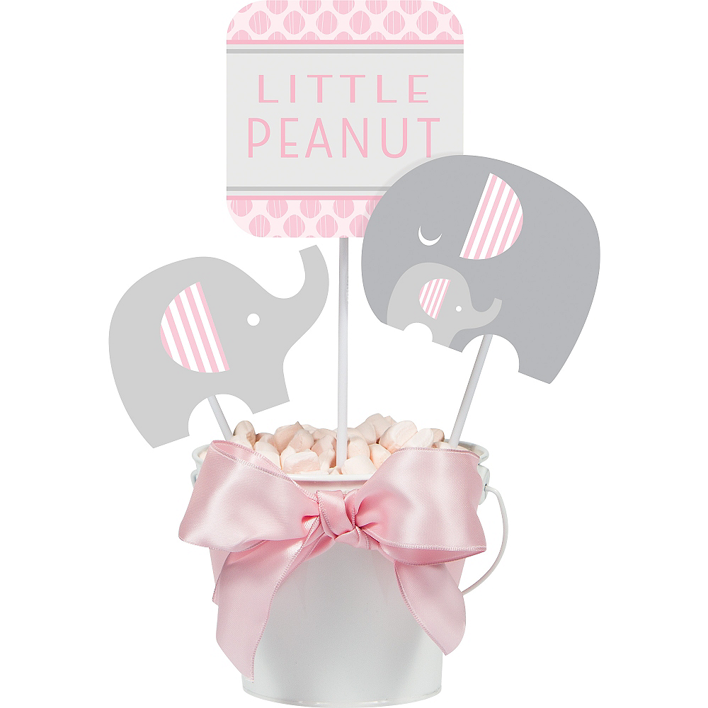 Pink Baby Elephant Centerpiece Sticks 3ct Image #1