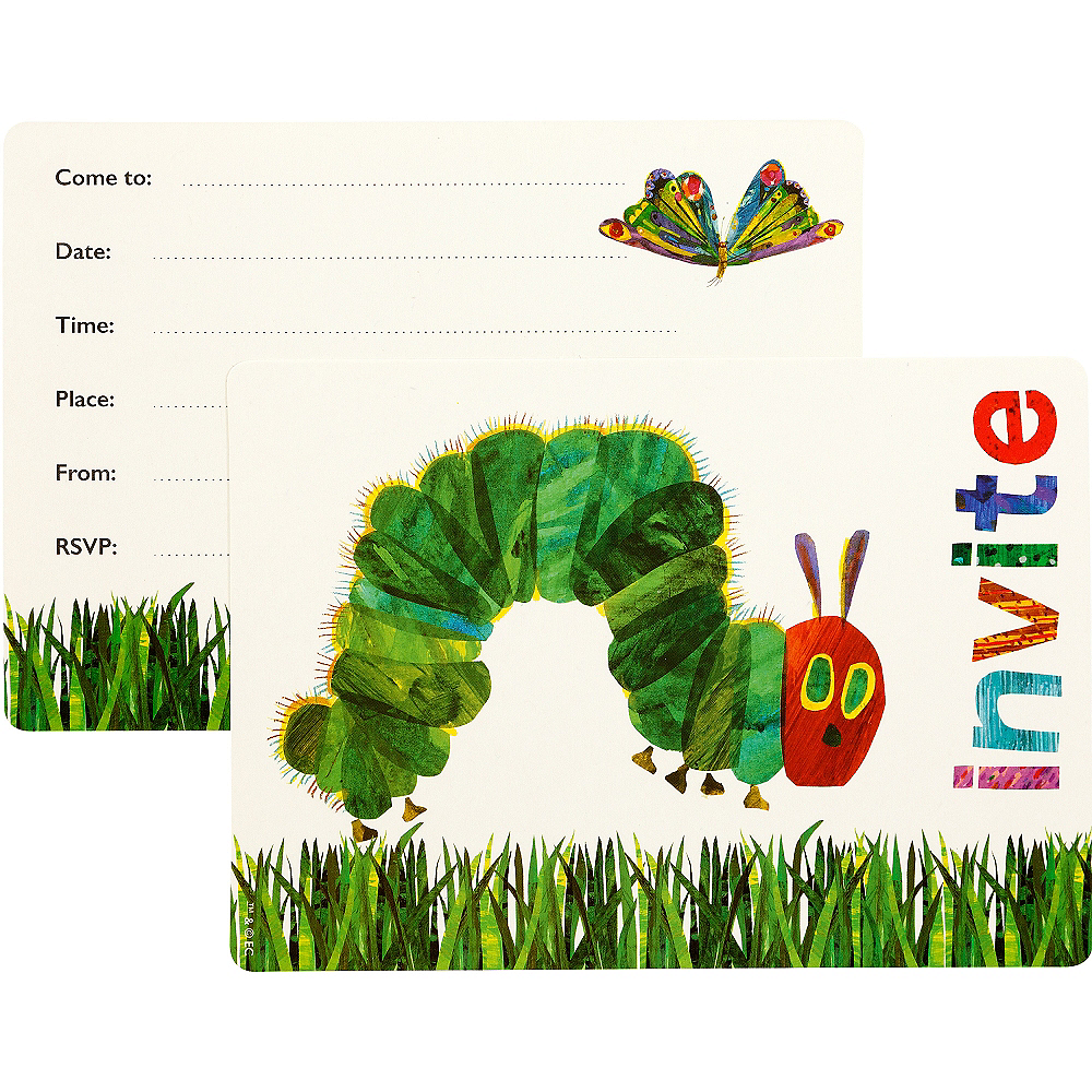 The Very Hungry Caterpillar Invitations 12ct | Party City
