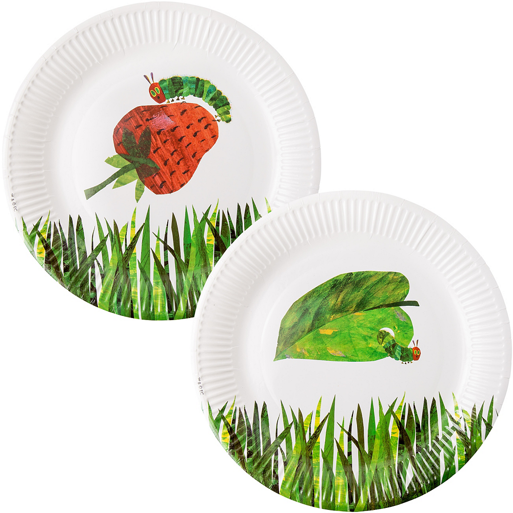 The Very Hungry Caterpillar Lunch Plates 12ct Image #1