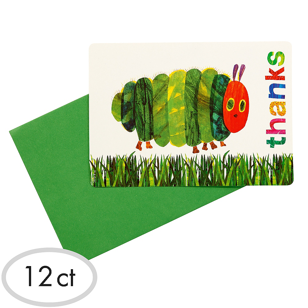 The Very Hungry Caterpillar Thank You Cards 12ct Image #1