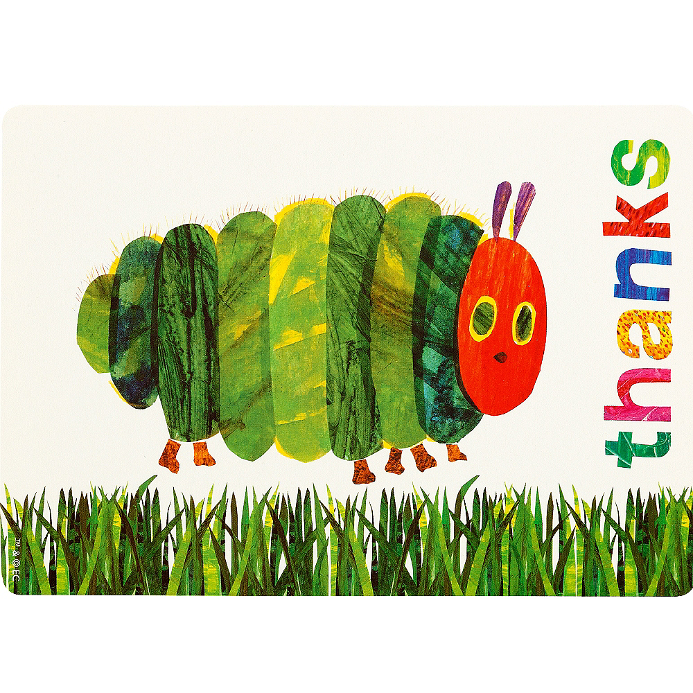 The Very Hungry Caterpillar Thank You Cards 12ct Image #2