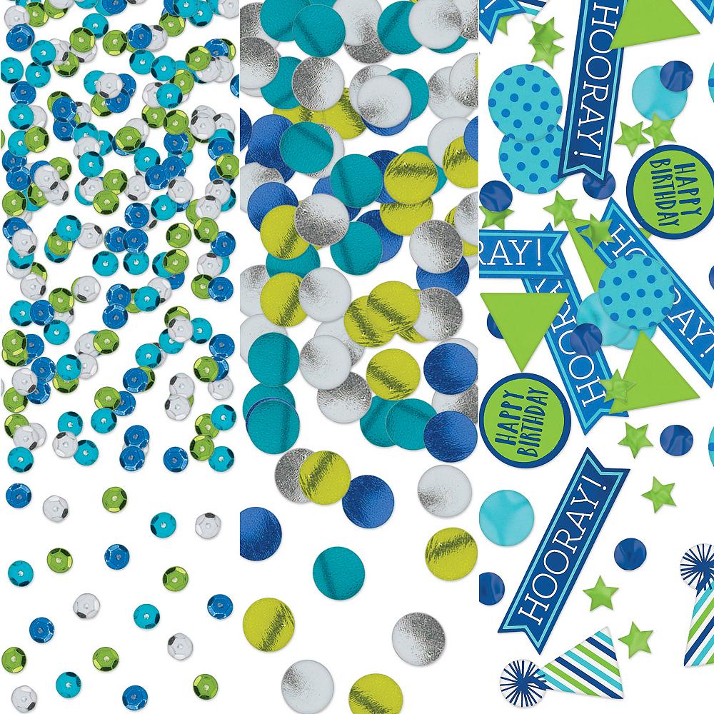 Blue & Green Birthday Confetti Image #1