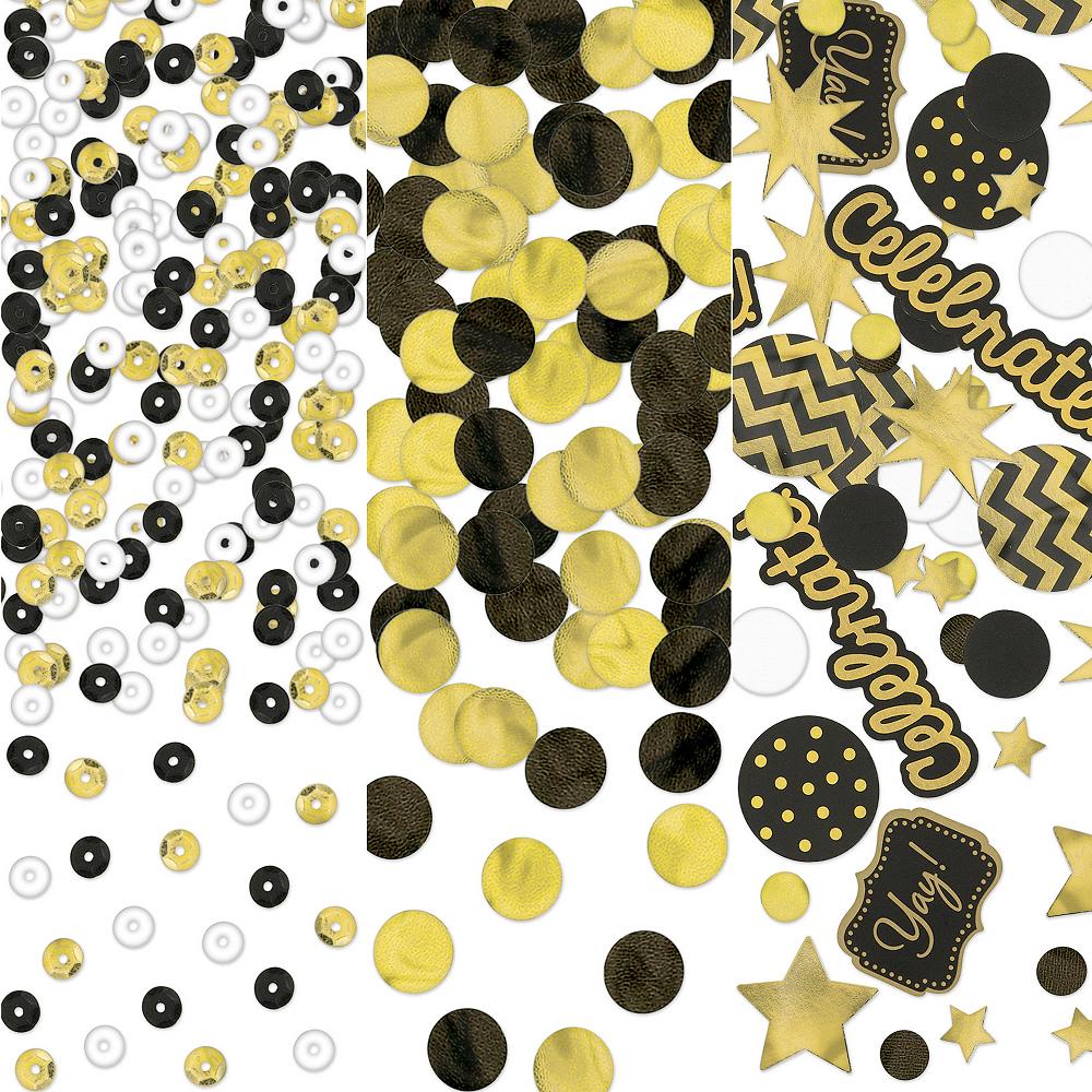 Black, Gold & Silver Confetti Image #1