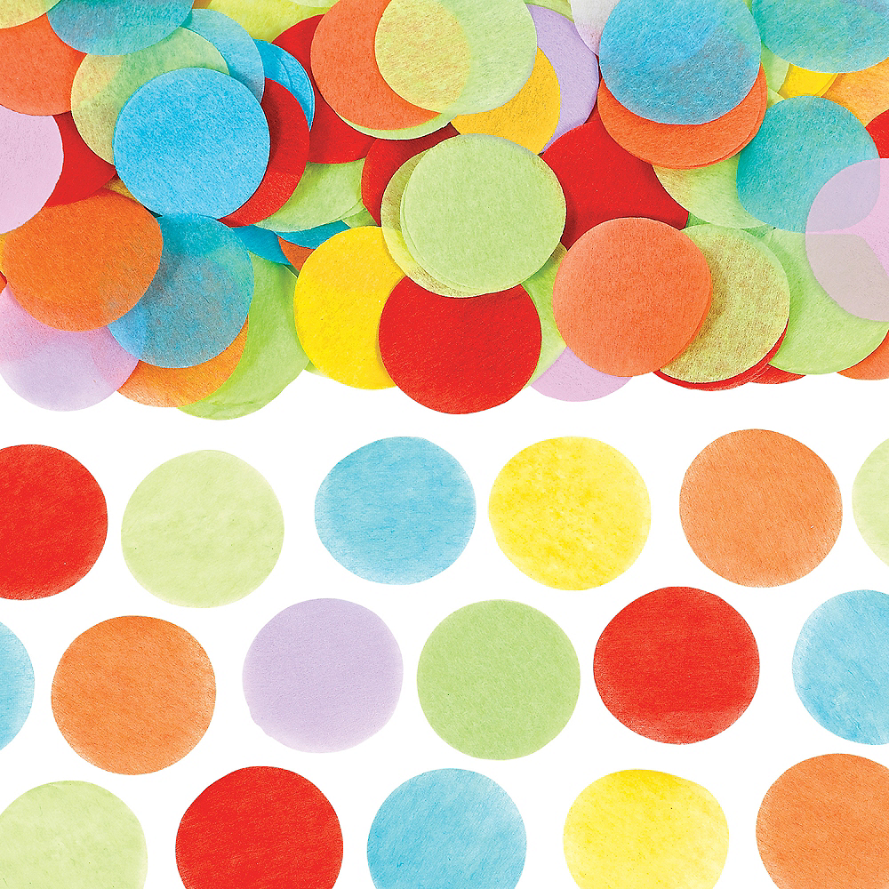 Rainbow Dots Tissue Paper Confetti 0 8oz Party City
