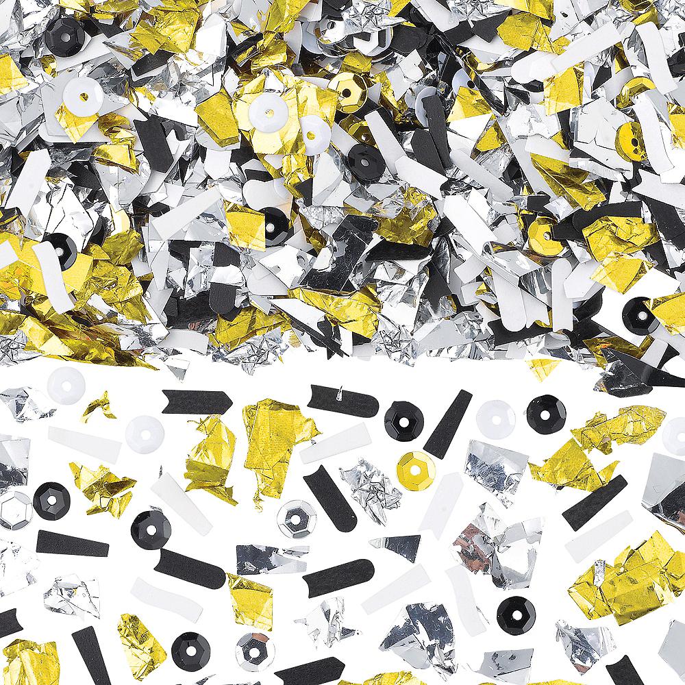 Black, Gold & Silver Sequin & Sparkle Confetti