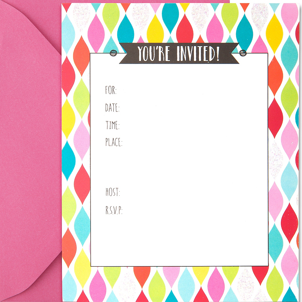 colorful twist invitations 50ct party city