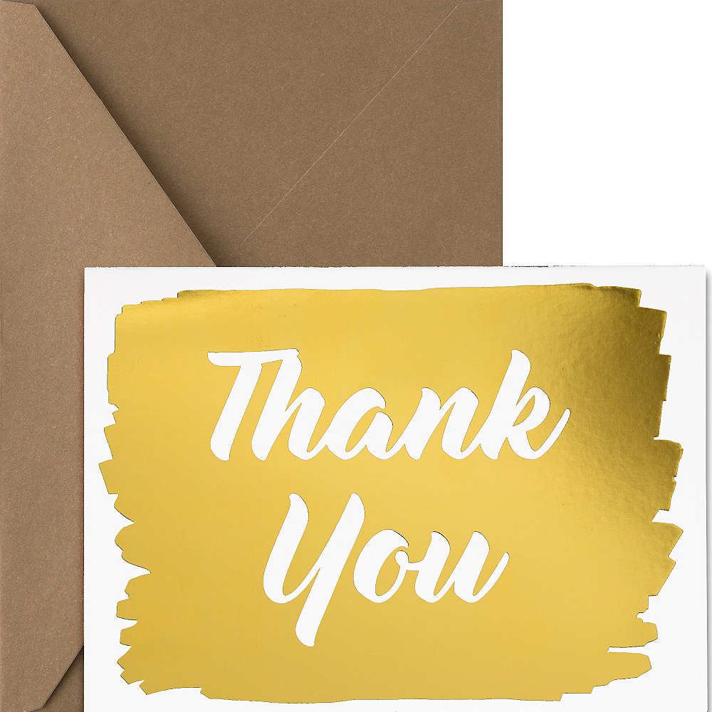 Nav Item for Metallic Gold Thank You Notes 20ct Image #1