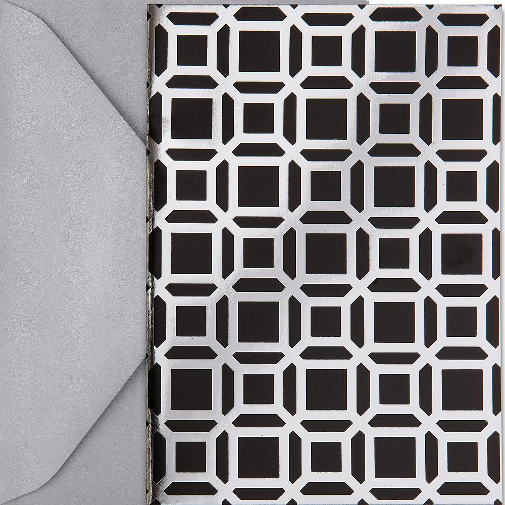 Metallic Black Geometric Note Cards 20ct Image #1