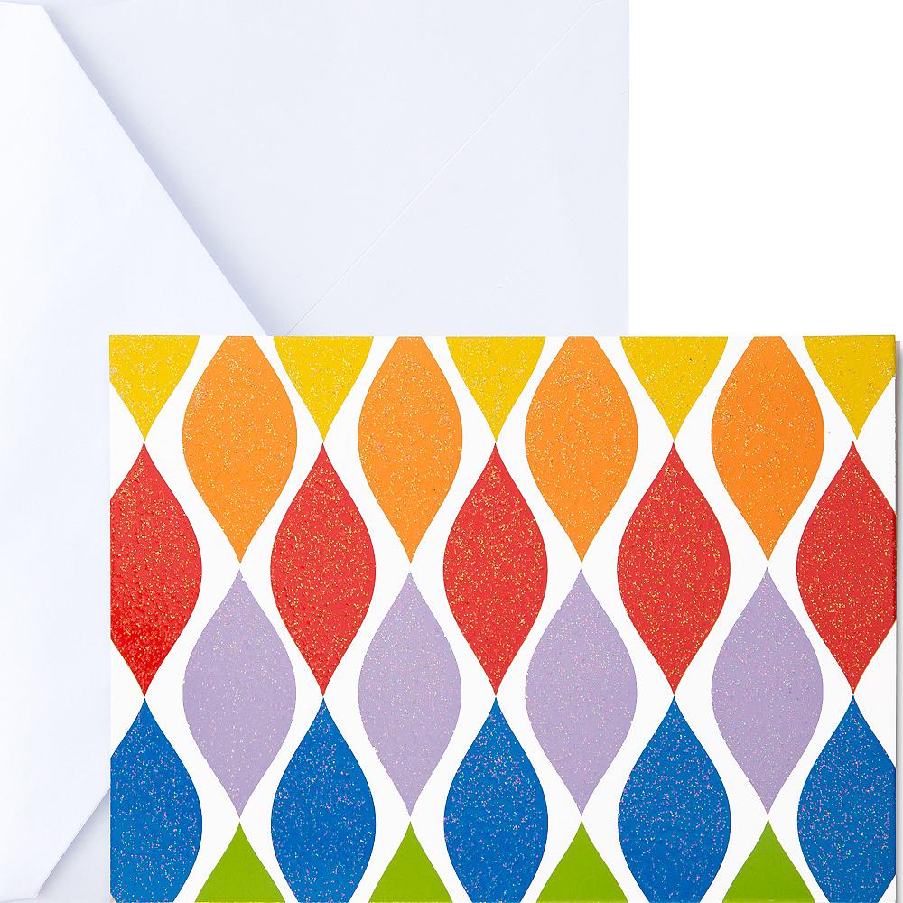 Glitter Rainbow Twist Note Cards 20ct Image #1