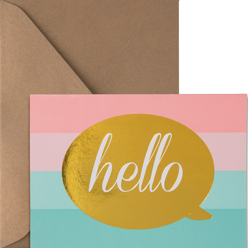 Metallic Pastel Hello Note Cards 20ct Image #1