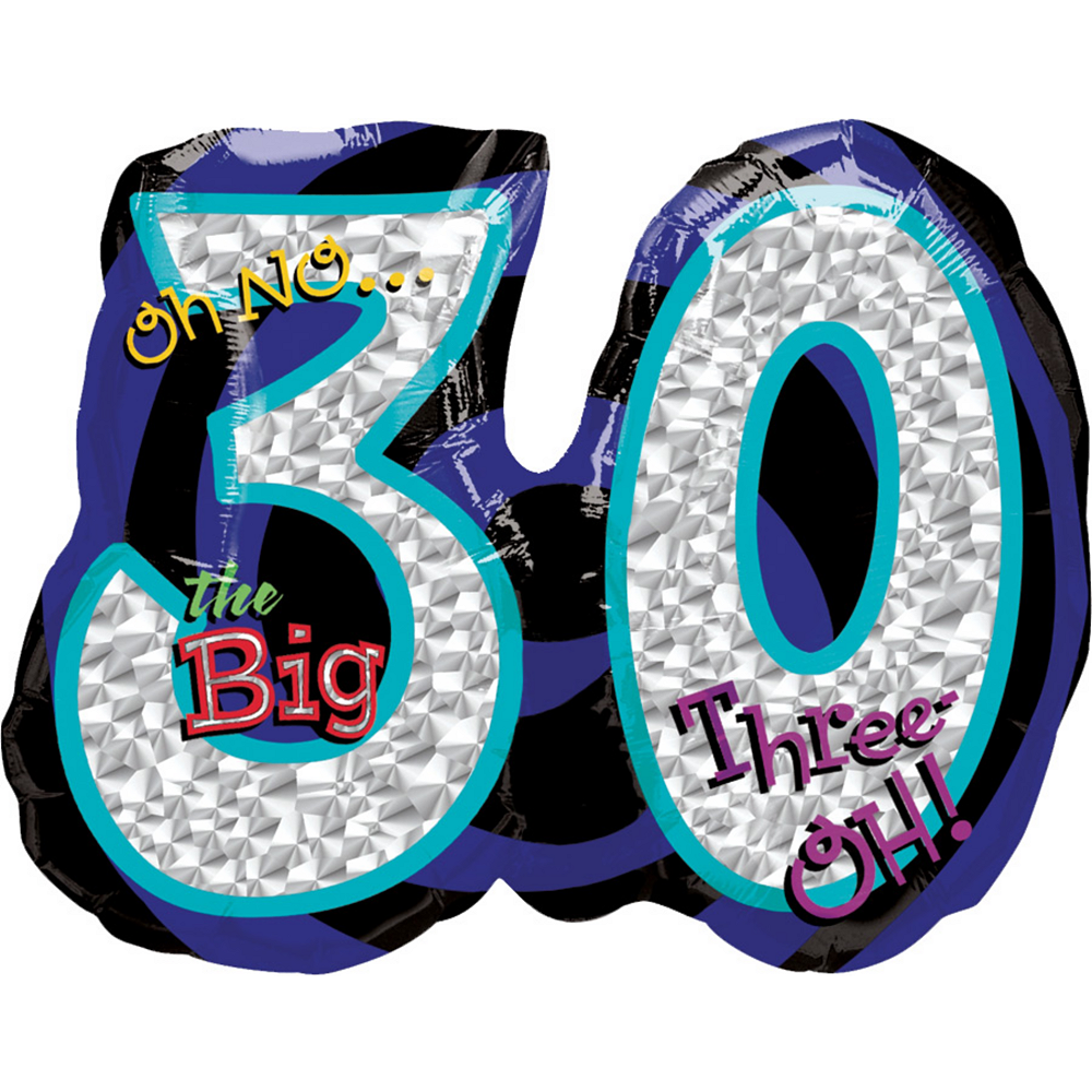 30th Birthday Balloon - Giant Oh No! Image #1