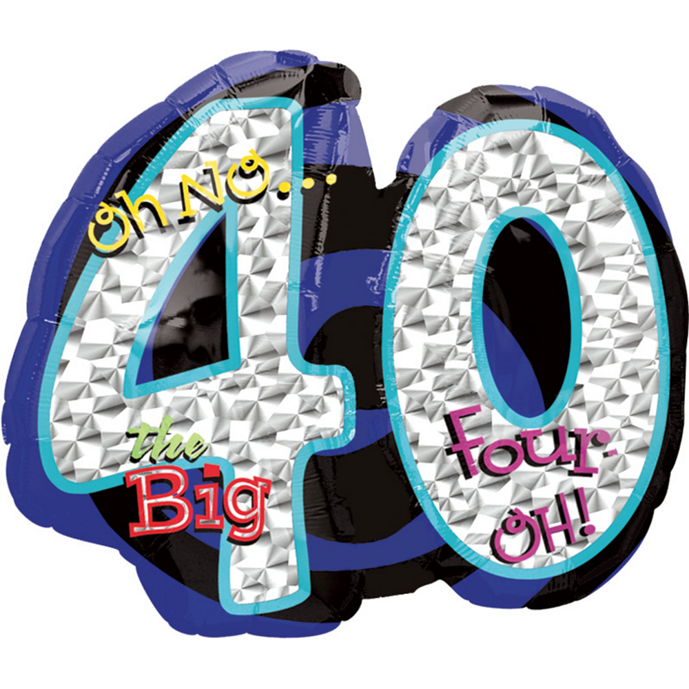 Nav Item for 40th Birthday Balloon - Giant Oh No!, 27in Image #1