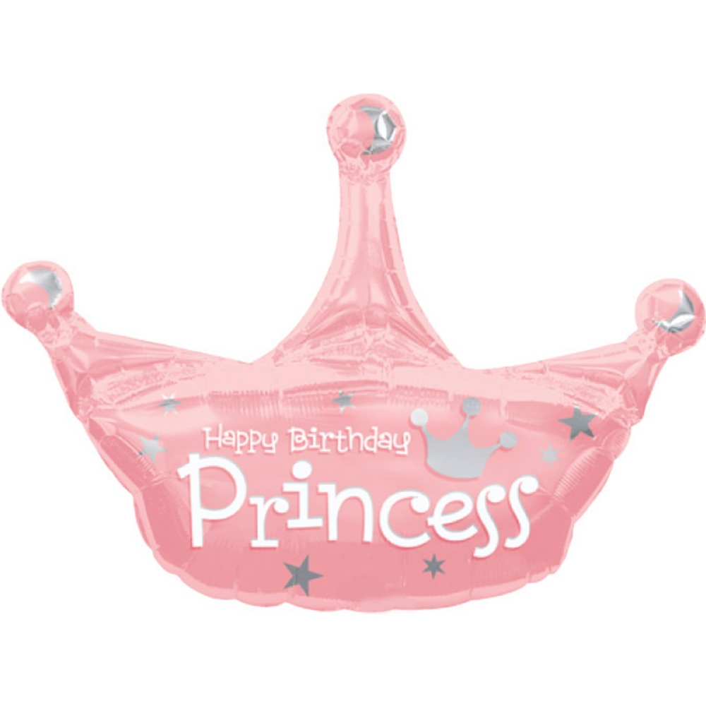 Nav Item For Princess Crown Happy Birthday Balloon Image 1
