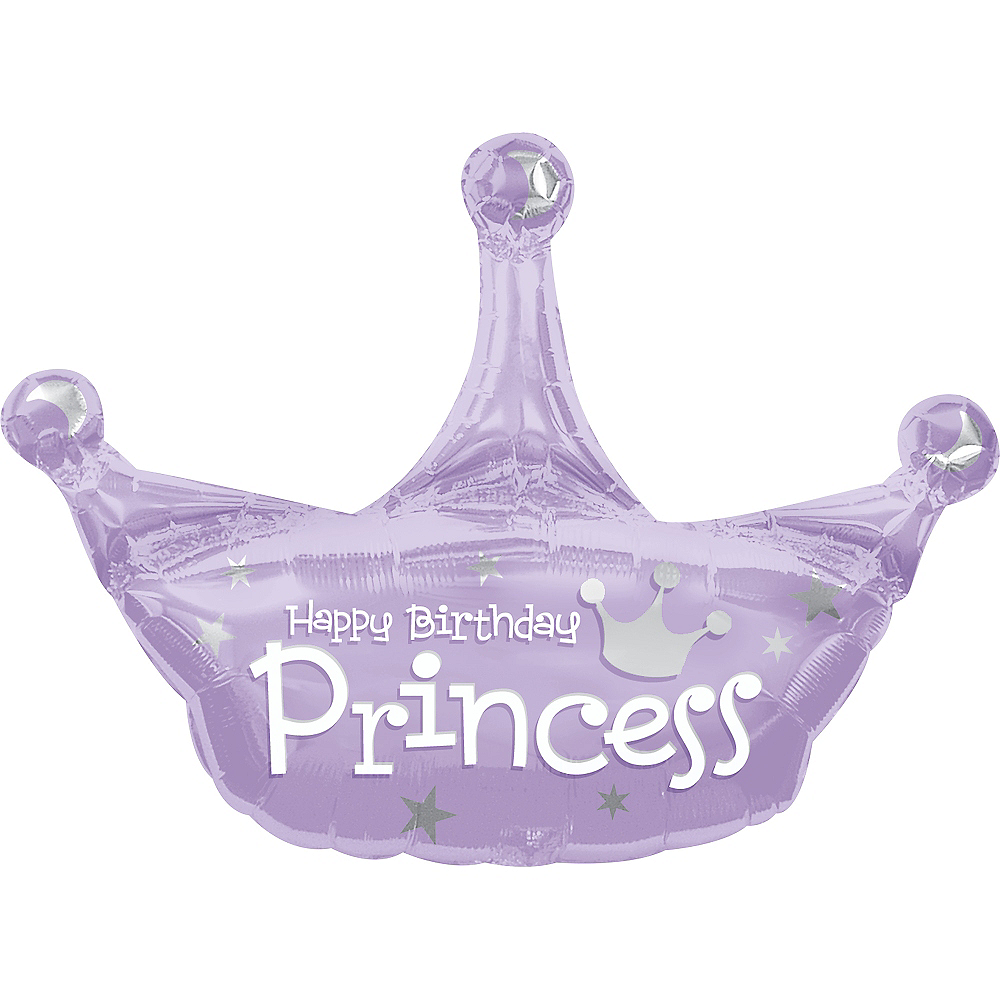 Princess Crown Happy Birthday Balloon, 25in Image #2