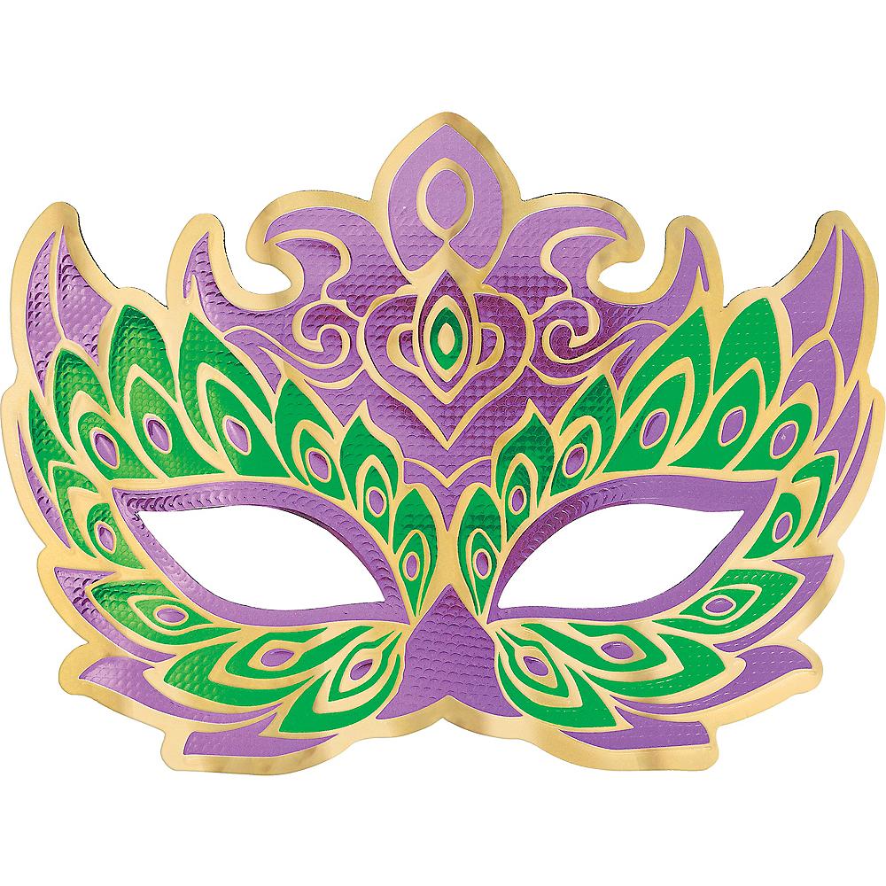 Peacock Mardi Gras Masquerade Mask Image #1