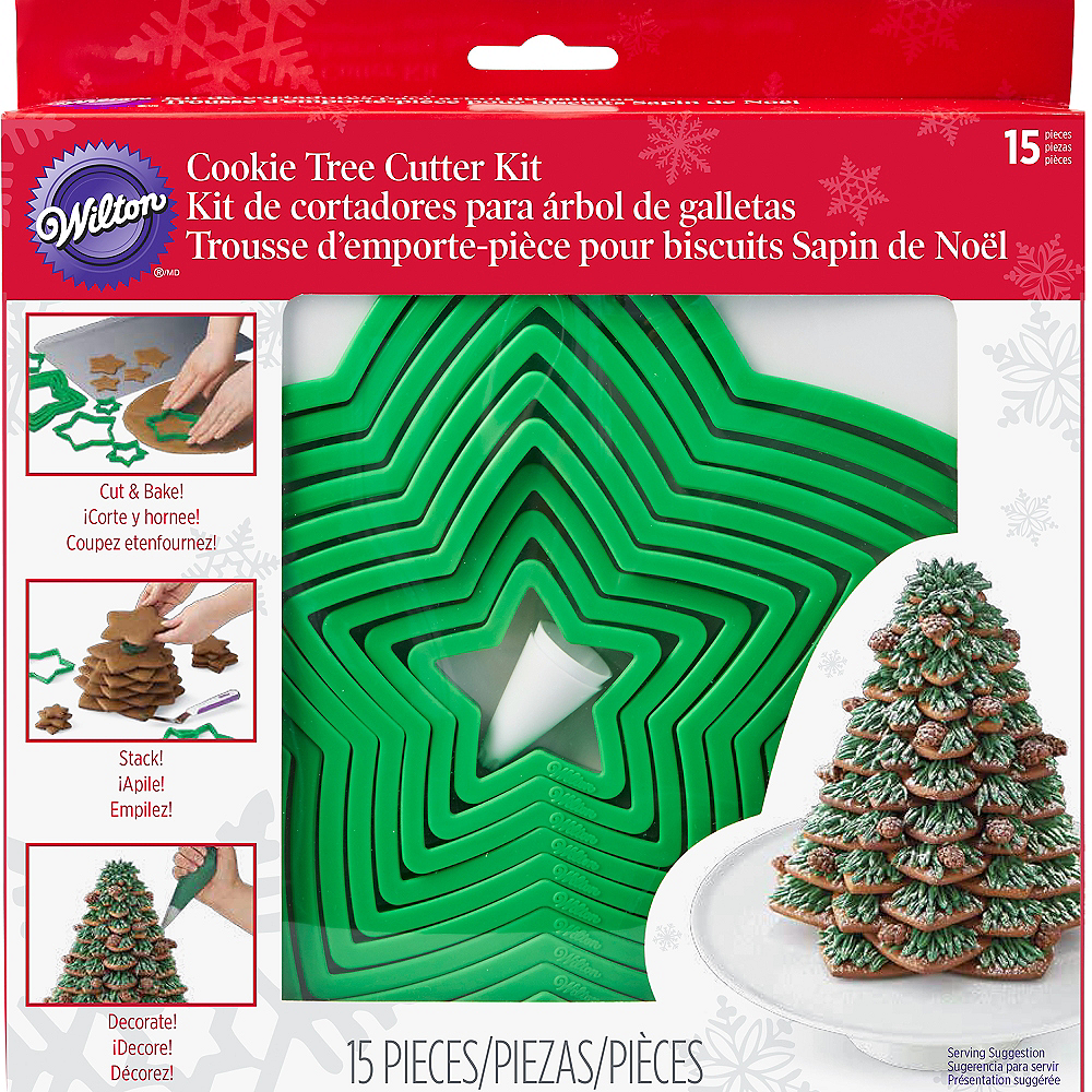 christmas tree cookie cutter kit 15pc image 2