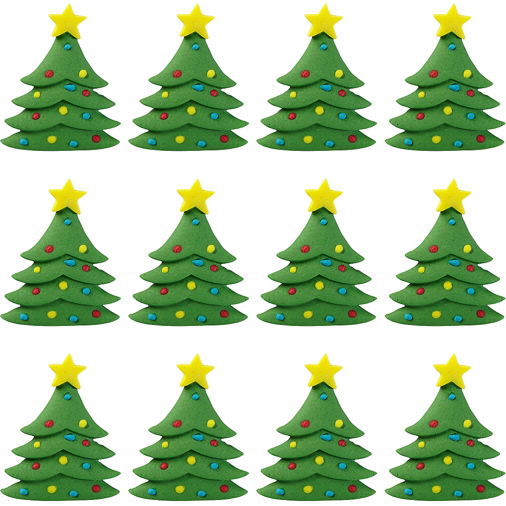christmas tree icing decorations 12ct image 1