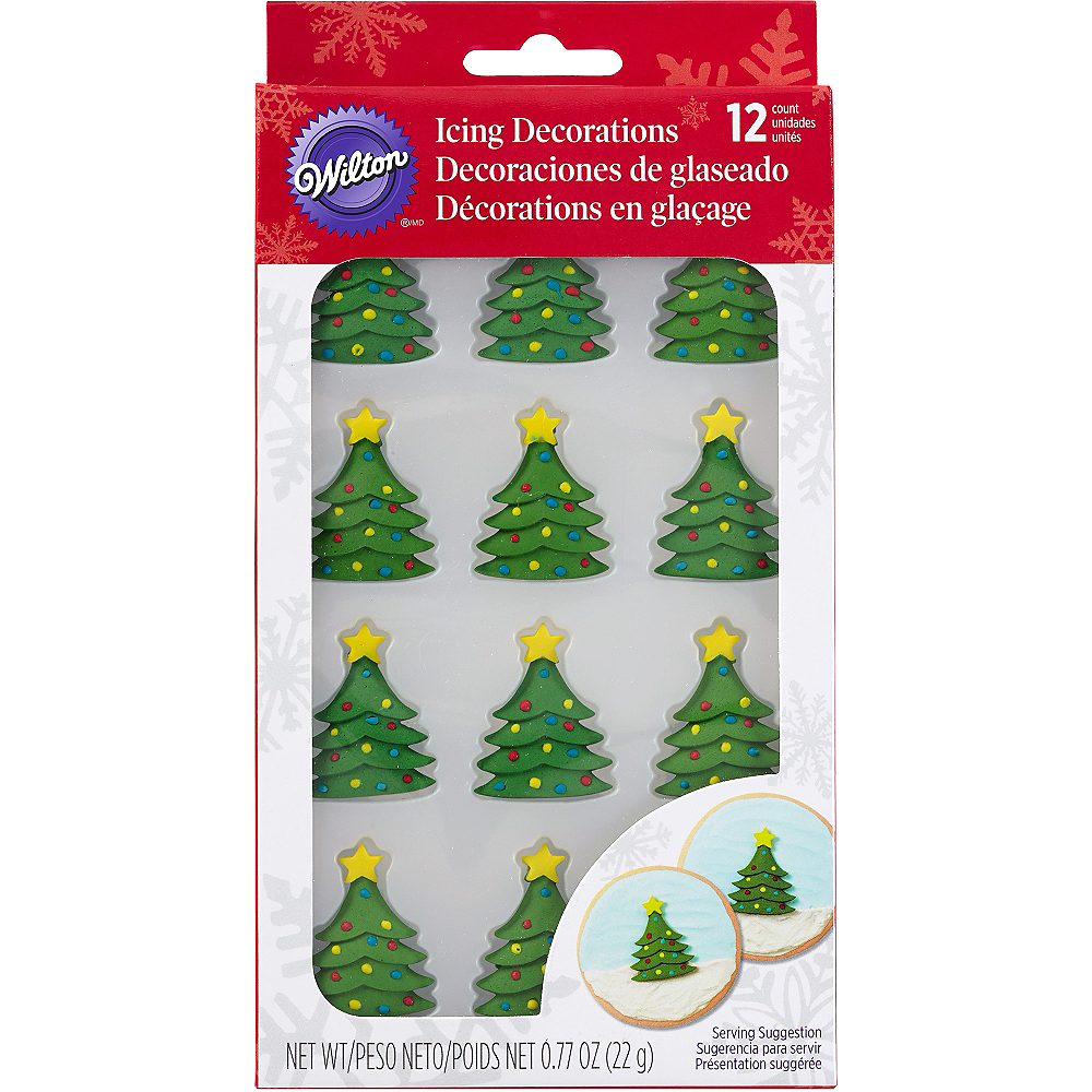 christmas tree icing decorations 12ct image 2