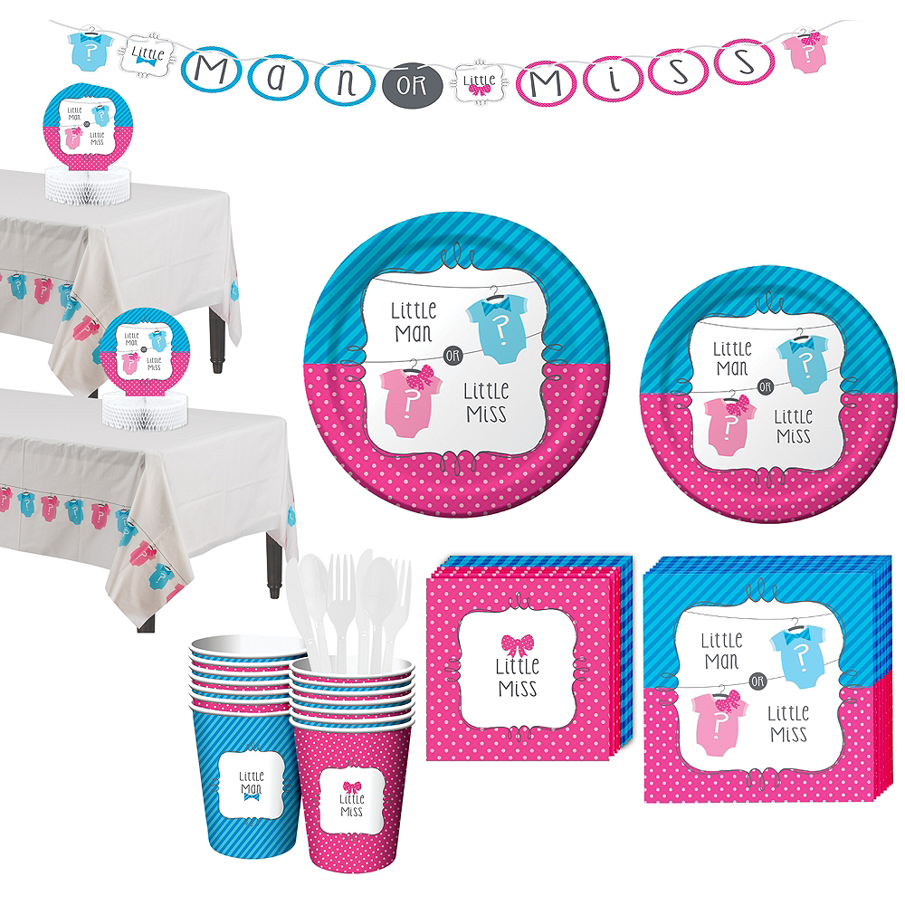 Gender Reveal Party Kit 16 Guests Image #1