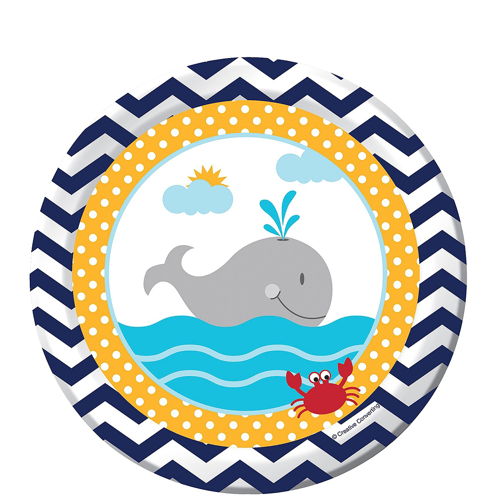 Ahoy Nautical Baby Shower Tableware Kit 32 Guests Image #5