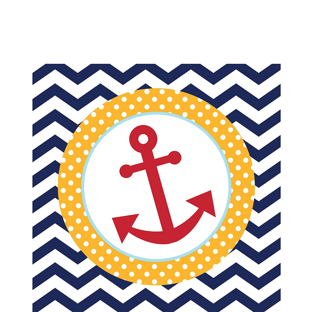 Ahoy Nautical Baby Shower Tableware Kit 32 Guests Image #8