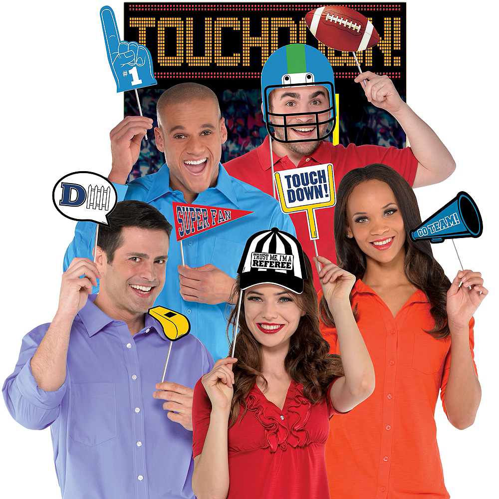 Football Photo Booth Kit 14pc Image #1