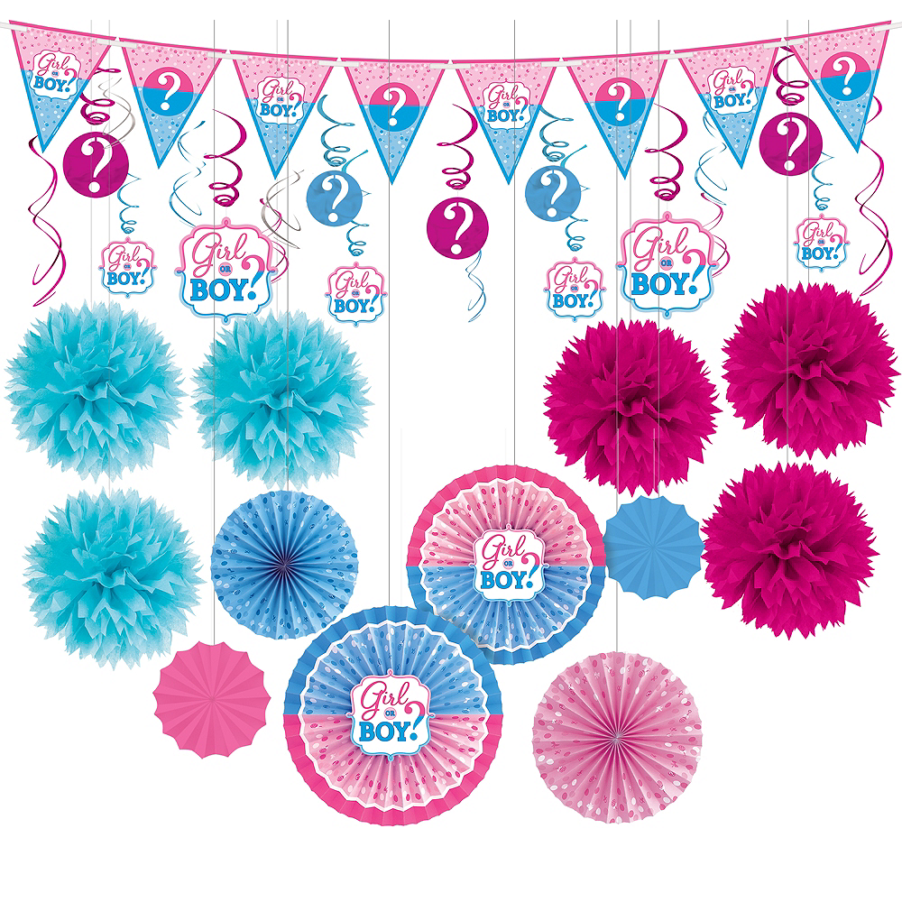 Girl or Boy Gender Reveal Decorations Shower Kit Image #1