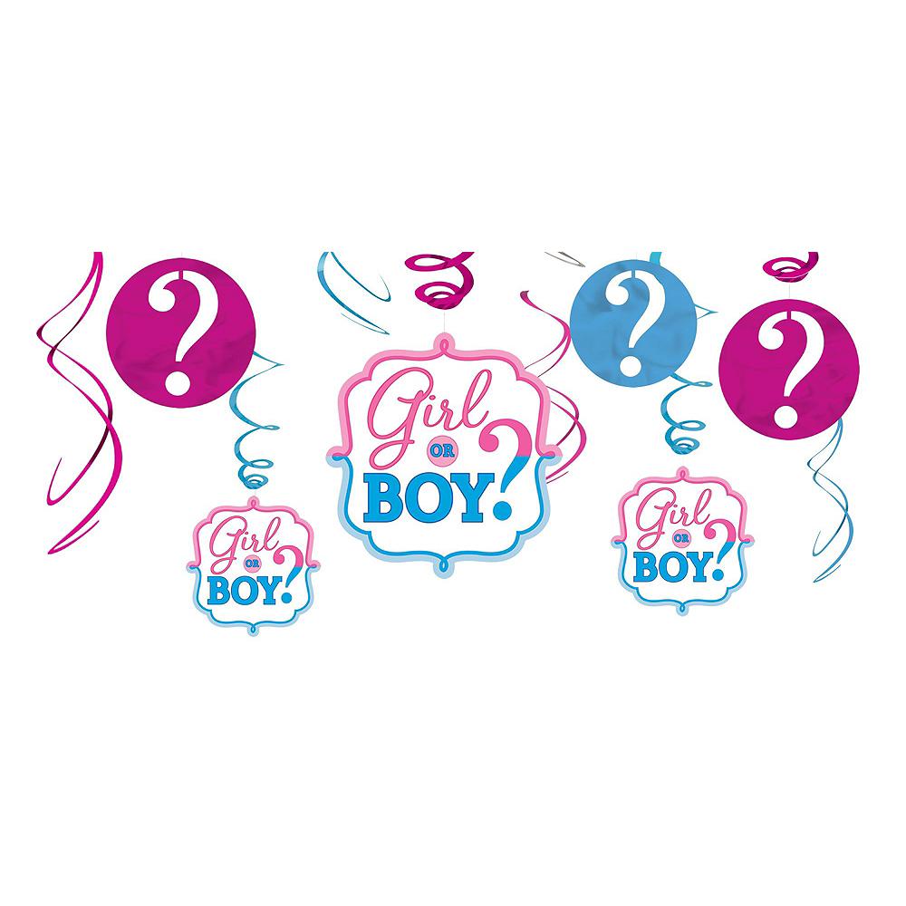 Girl or Boy Gender Reveal Decorations Shower Kit Image #3