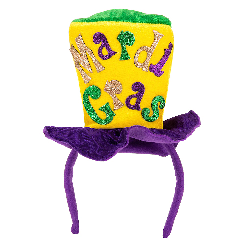 Nav Item for Mardi Gras Top Hat Headband Image #1