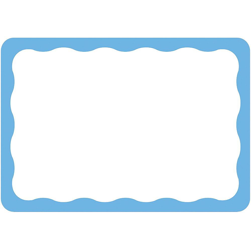 Blue Border Name Tags 100ct Image #1